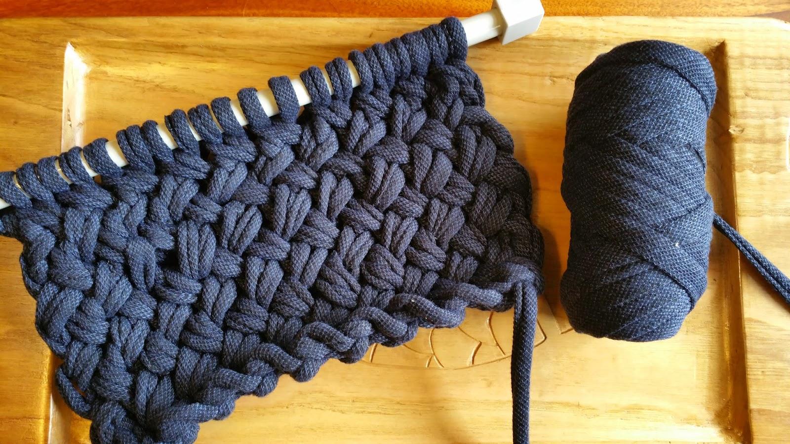 Como hacer bolsos de trapillo con dos agujas modelos de moda - Como hacer bolsos tejidos ...