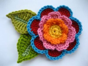 como hacer flores a crochet faciles-36