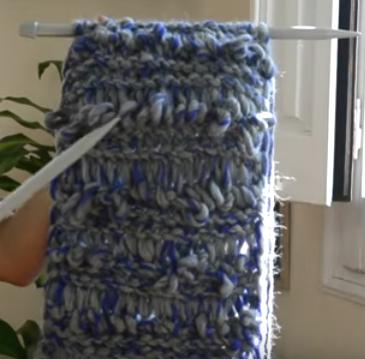 como hacer una bufanda con dos agujas