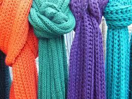 como hacer bufandas de punto con dos agujas-4