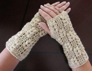 como hacer mitones a crochet