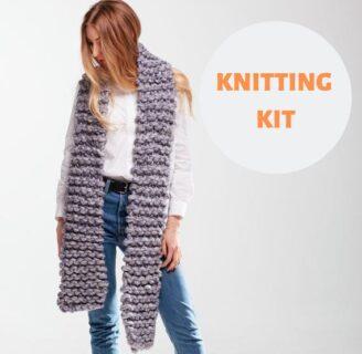 Kit de tejido de bufanda